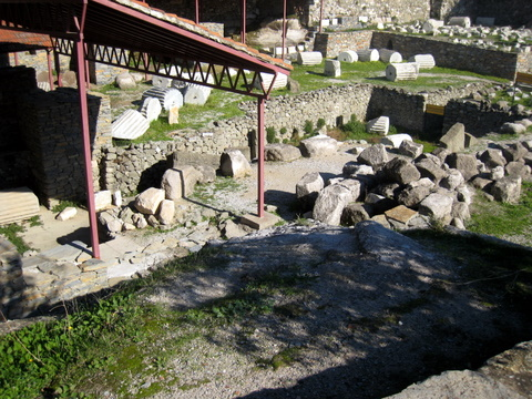 Shot of The Mausoleum Ruins